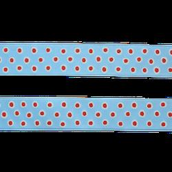 Sidenband - blå med prickar