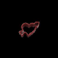 Miniatyrform - hjärta med pil, miniatyr