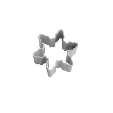 Miniatyrform - Snöflinga, vit