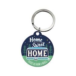 Nyckelring Plåtskylt Home Sweet Home