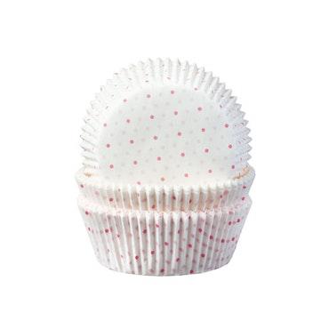 Muffinsformar - Rosa dots