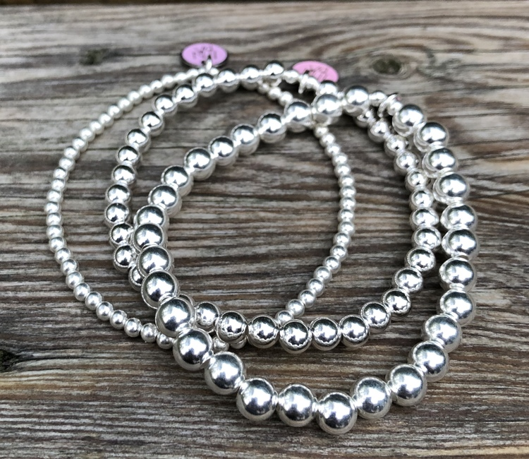 3 mm silverpärlor