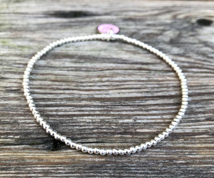 2 mm silverpärlor