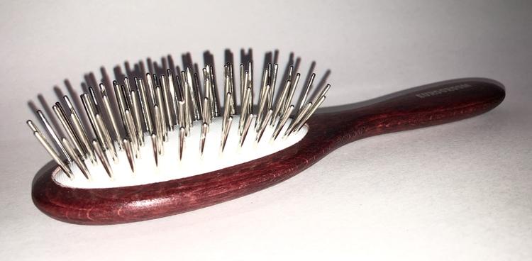 Eurogroom Thick Pin Brush Oval mellan