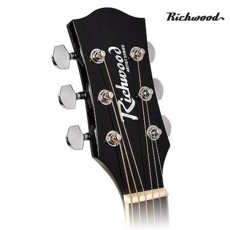 Akustisk stålsträngad Richwood RD-12-BK