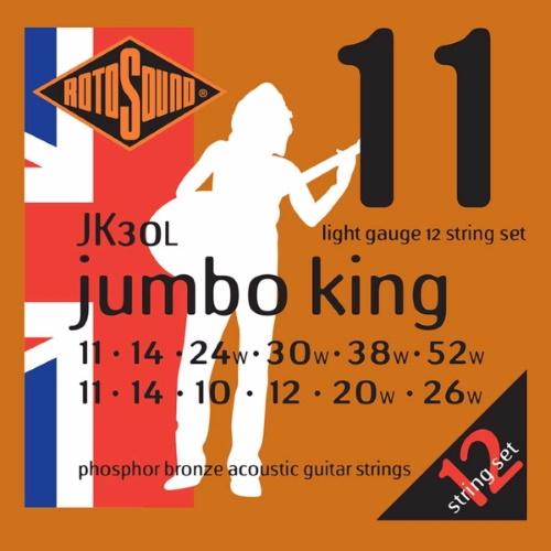 Rotosound JK30L Phosphor Bronze för 12-strängad 11-52