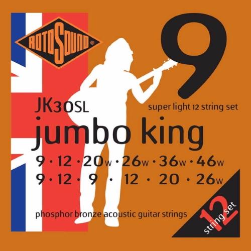 Rotosound JK30SL Phosphor Bronze för 12-strängad 09-46