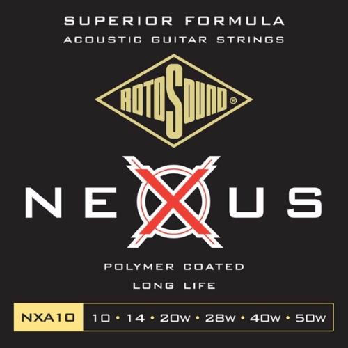 Rotosound Nexus NXA10 Phosphor Bronze 10-50