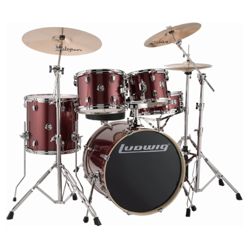 "Ludwig Element Evolution 20"" - Red Sparkle"