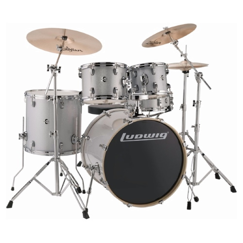 "Ludwig Element Evolution 20"" - Silver Sparkle"
