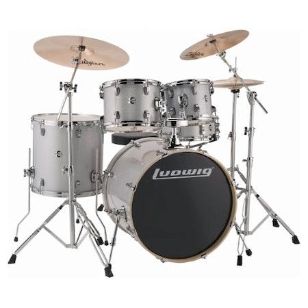 "Ludwig Element Evolution 20"" - Silver Sparkle"