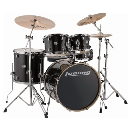 "Ludwig Element Evolution 22"" - Black Sparkle"