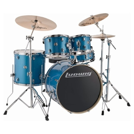 "Ludwig Element Evolution 22"" - Blue Sparkle"