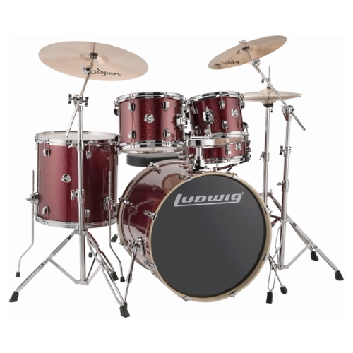 "Ludwig Element Evolution 22"" - Red Sparkle"