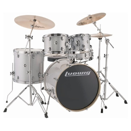 "Ludwig Element Evolution 22"" - Silver Sparkle"