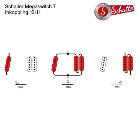 3-Läges switch Schaller Megaswitch T