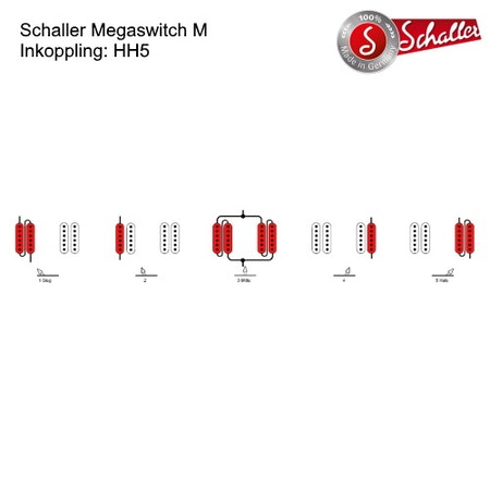 5-Läges switch Schaller Megaswitch M