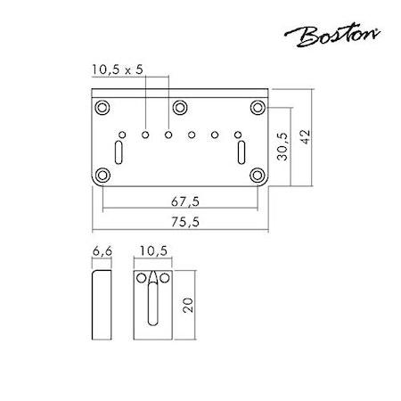 Fast stallbrygga Boston B-1504-C