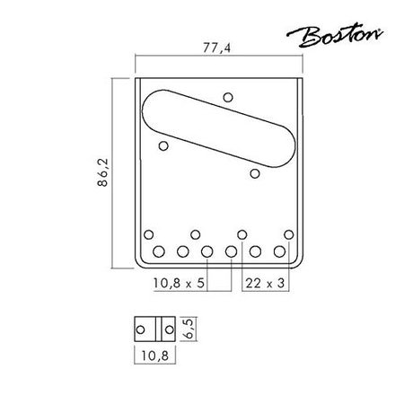 Stallbrygga Tele Style Boston T-40-B