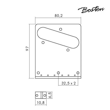 Stallbrygga Tele Style Boston T-64-B