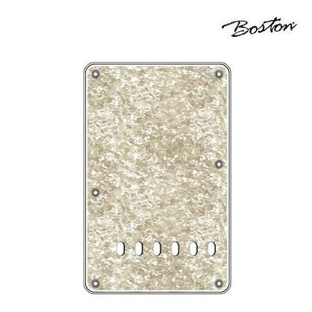 Boston Strat Teremolo back plate BP-413-PW