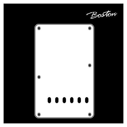 Boston Strat Teremolo back plate BP-313-W