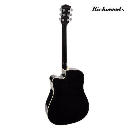 Akustisk stålsträngad Richwood D-40-CEBK