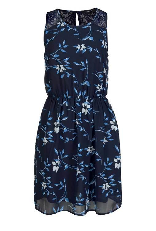 Chiffong klänning, mörkblå