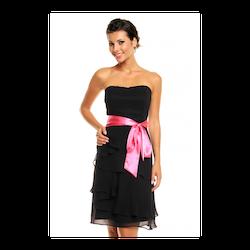 MAYAADI axelbandslös klänning svart
