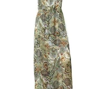 Grönmönstrad maxiklänning