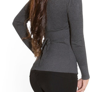 Spetsdekorerad tröja Antracit-grå