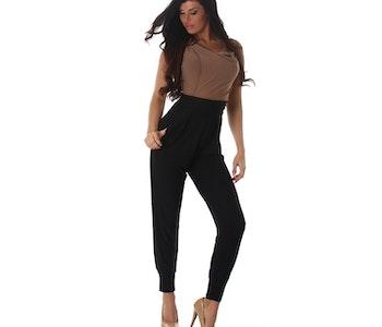 Brun-svart jumpsuit