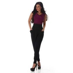Lila-svart jumpsuit