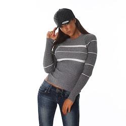 Stickad tröja Tuffing grå