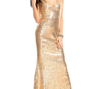 Festklänning Gold