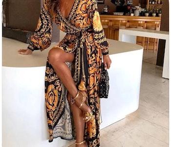 African Kitenge Bohemisk Kaftan