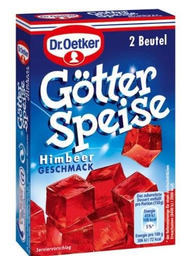 GÖTTER SPEISE/ GELÉ PUDDING   RÖD (  INNEHÅLLER 2 PÅSAR FÖR 8 PERSONER )