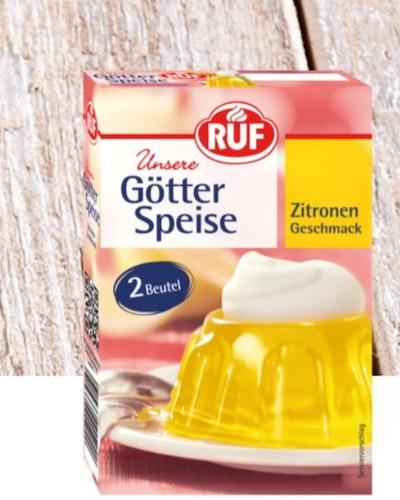 GÖTTER SPEISE/ GELÉ PUDDING  GUL INNEHÅLLER 2 PÅSAR FÖR 8 PERSONER )