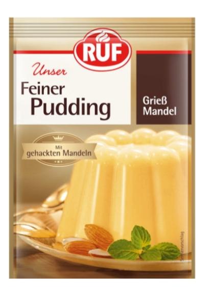 Ruf pudding Gryn mandel