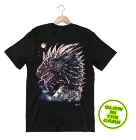 Glow in the Dark Shirt Black Sea Dragon STL L