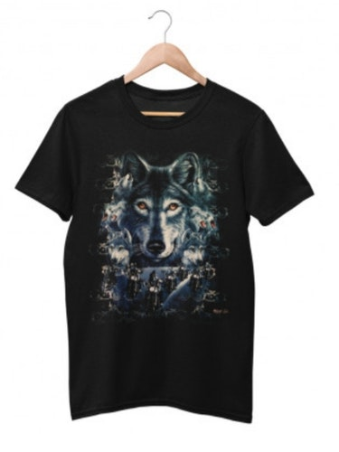 Wild Wolfs Bikers T-Shirt  STL  XL