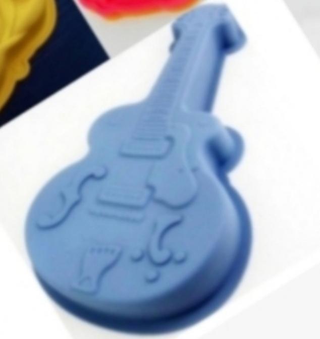 Silicone Guitar Cake Mold  NY