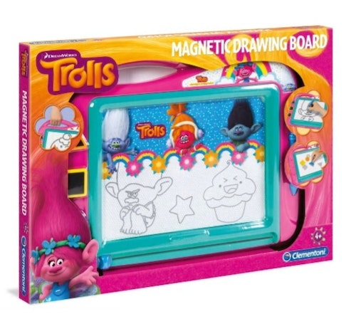 CLEMENTONI TROLLS MAGNETIC DRAWING BOARD XL 34X47CM