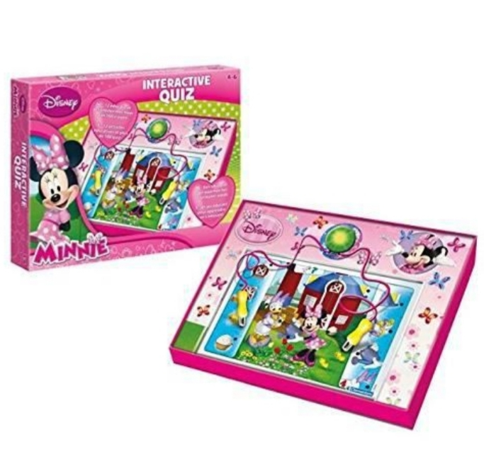 Disney Minnie interactive quiz 28x37cm