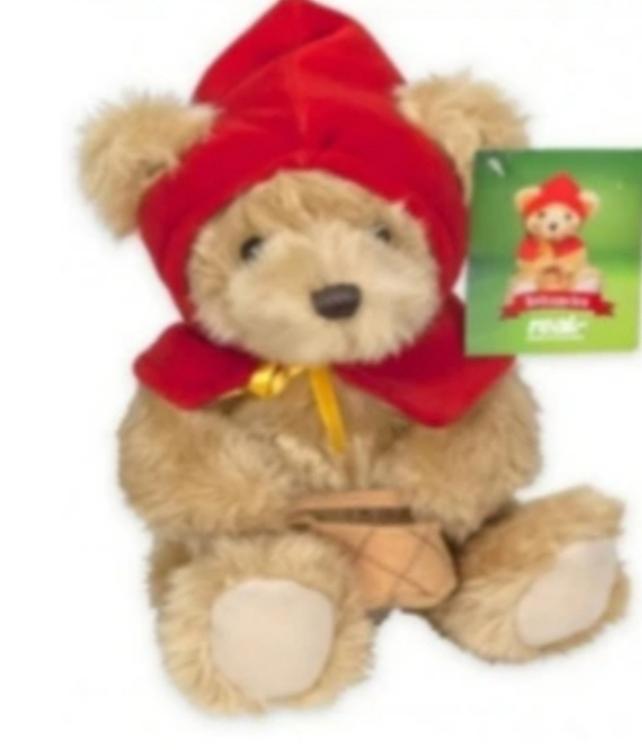 Plush Bear Red Riding Hood 21cm