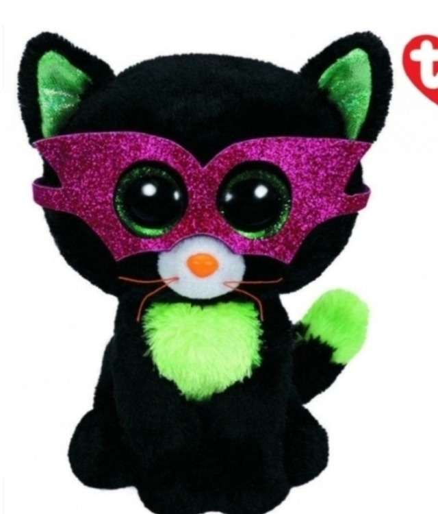 TY Plush Halloween Cat with Glitter eyes 15cm