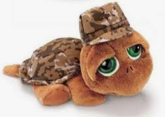 RUSS PLUSH TURTLE SHELBY CAMOUFLAGE 20CM
