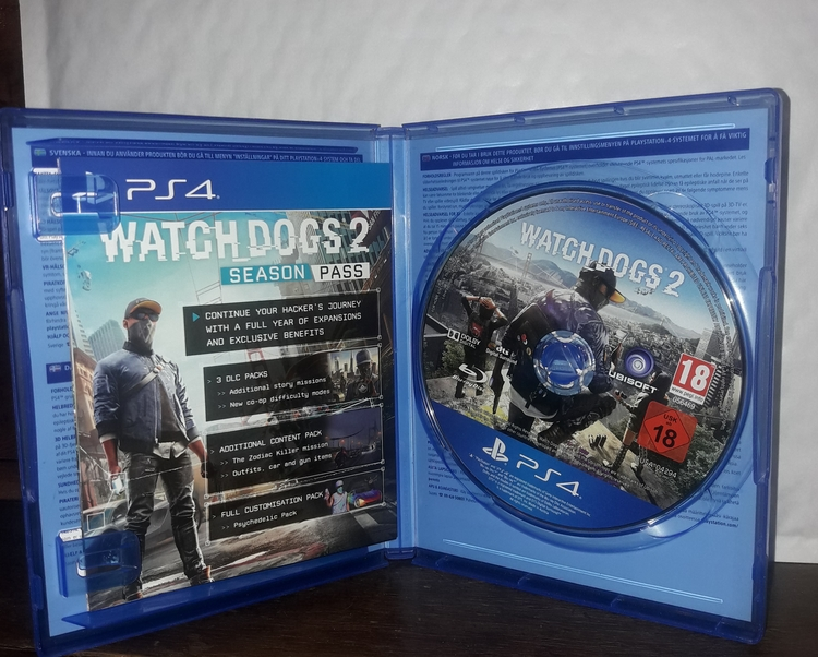 WATCH DOGS 2  PS 4