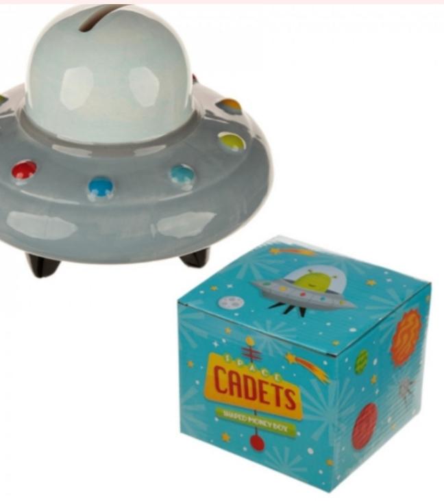 Keramisk spargris UFO