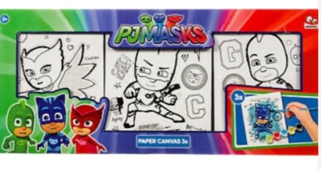 PJ Masks Canvas set of 3 Delar  Måla dina favoriter